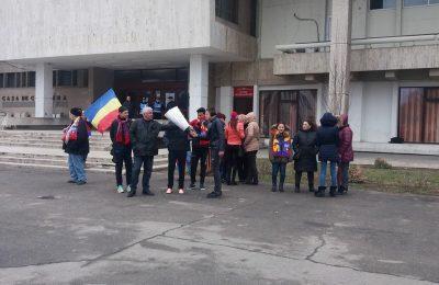 Protest pro Steaua la Alexandria.