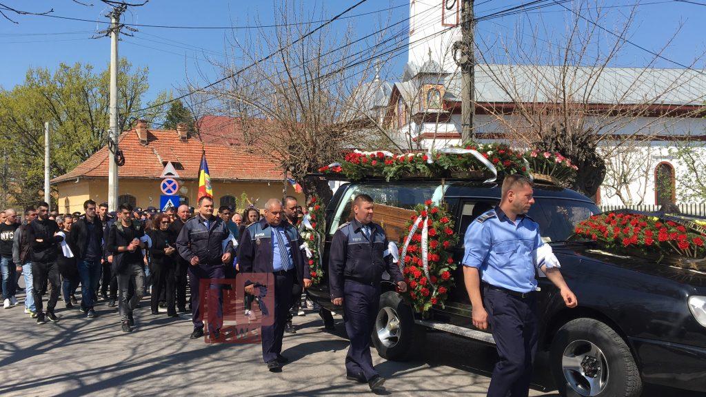 Polițistul implicat în accidentul de vinerea trecută a fost înmormântat