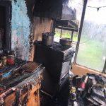 O locuință a fost cuprinsă de flăcări! O persoană a suferit arsuri